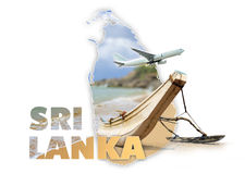 Concept de voyage de Sri Lanka Photo libre de droits