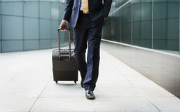 Concept de voyage de Traveler Journey Business d'homme d'affaires Photos libres de droits