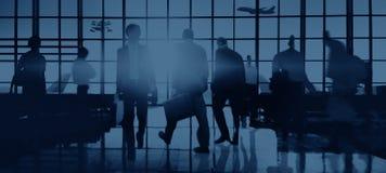 Concept de voyage de voyage d'affaires d'aéroport international Photos libres de droits
