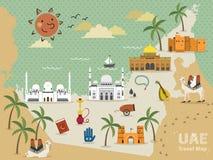 Concept de voyage des EAU illustration libre de droits