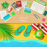 Concept de voyage et de vacances illustration libre de droits