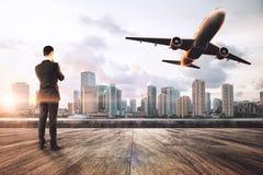Concept de voyage et de passager image stock
