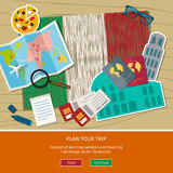 Concept de voyage ou d'Italien d'étude Images libres de droits