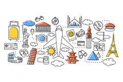 Concept de voyage pour le calibre de web design illustration stock