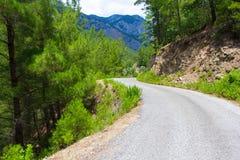 Concept de voyage - route goudronnée dans les montagnes Photo libre de droits