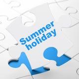 Concept de voyage : Vacances d'été sur le fond de puzzle Photo stock
