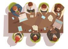 Concept de vue supérieure de réunion d'affaires Illustration Libre de Droits