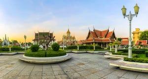 Concept de Wat Ratchanadda Panorama, c'est un endroit qui est importan image stock