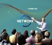 Concept de Web de connexion de communication de réseau Photographie stock