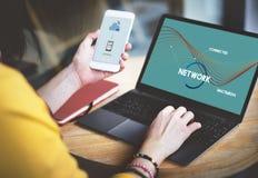 Concept de Web de connexion de communication de réseau photo stock