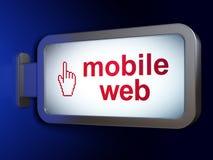 Concept de web design : Curseur mobile de Web et de souris sur le fond de panneau d'affichage Illustration Libre de Droits