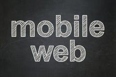 Concept de web design : Web mobile sur le fond de tableau Illustration Stock
