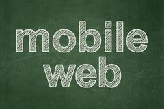Concept de web design : Web mobile sur le fond de tableau Illustration de Vecteur