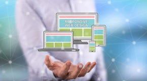 Concept de web design sensible photo stock