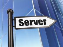 Concept de web design : serveur de signe sur le fond de bâtiment Photo stock