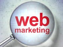 Concept de web design : Vente de Web avec le verre optique illustration stock