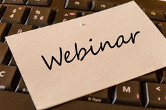 Concept de Webinar sur le clavier Photos libres de droits