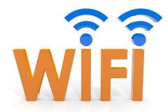 Concept de Wifi. Photos stock