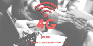 concept de Wifi de technologie de réseau Internet de 4G Digital Photographie stock