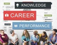 Concept de Word de la connaissance de représentation de carrière Image stock