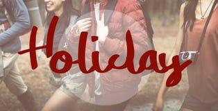 Concept de Word de voyage d'aventure de vacances de vacances Images stock