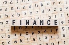 Concept de Word de finances photo libre de droits