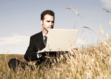 Concept de Working Field Environment d'homme d'affaires photographie stock libre de droits