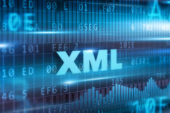 Concept de XML Photos stock