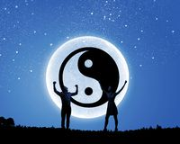 Concept de Yin yang Photos libres de droits