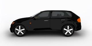Concept de zwarte oversteekplaatsauto Stock Afbeelding