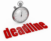 Concept of deadline Stock Images