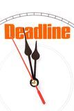 Concept of deadline Royalty Free Stock Image