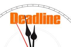 Concept of deadline royalty free stock images