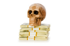 Concept of death and money Stock Photo