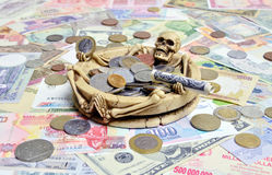 Concept of death and money Stock Image