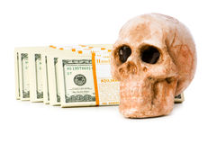 Concept of death and money Royalty Free Stock Photos