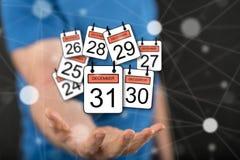 Concept 31 december Royalty-vrije Stock Afbeeldingen