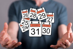 Concept of 31 december Royalty Free Stock Photo