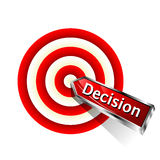 Concept Decision Icon. Red dart hitting a target. Vector illustration Royalty Free Stock Photography