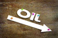 Concept of declining oil prices Stock Photo