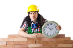 Concept of delay. In construction Stock Photography