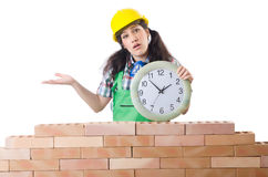 Concept of delay. In construction Royalty Free Stock Photos