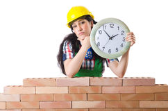 Concept of delay. In construction Royalty Free Stock Photography