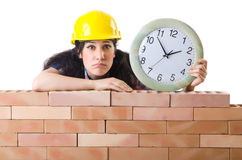 Concept of delay. In construction Stock Photo