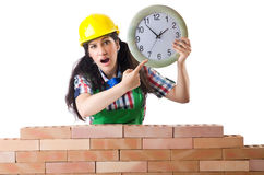 Concept of delay. In construction Stock Images