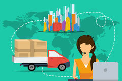 Concept delivery service worldwide Royalty Free Stock Images