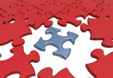 Concept denteux de connectivité de puzzle Photographie stock
