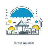 Concept of deposit insurance. Flat Vector illustration. Can be used for banner, business data, web design, brochure template Stock Image