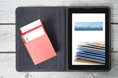 Concept of deposit money Stock Image