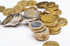 Concept of a depreciation euro Royalty Free Stock Photos